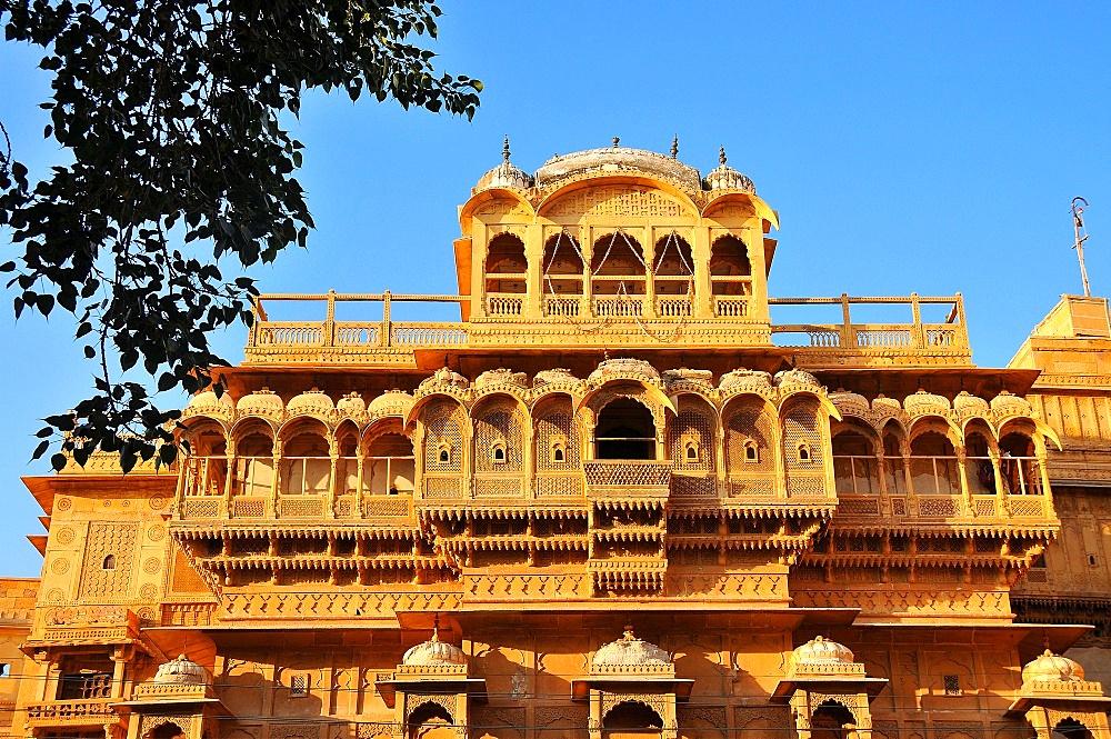 Jaisalmer Raj Mahal (Royal Palace), Jaisalmer, Rajasthan, India, Asia