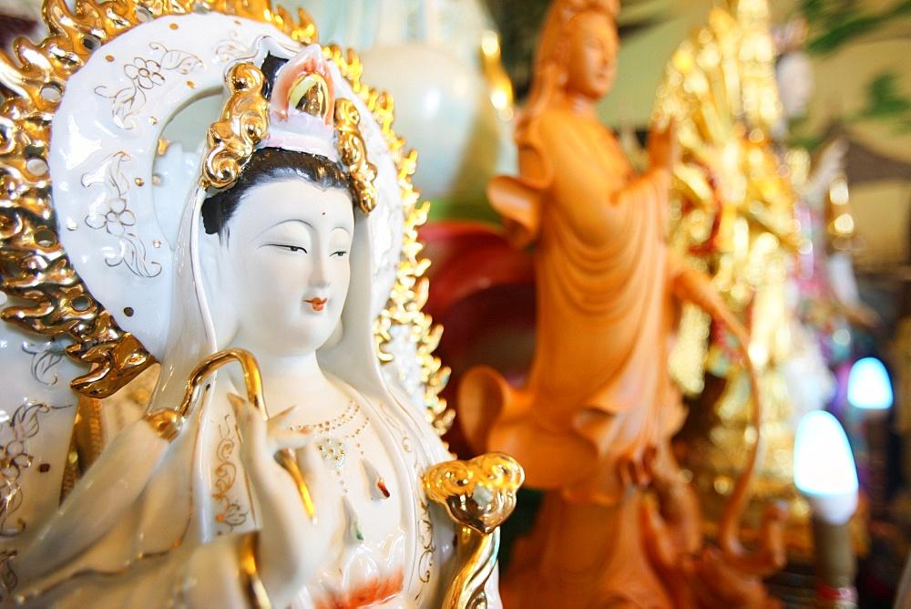 Quan Am, the Bodhisattva of compassion, Tu An Buddhist temple, Bonneville, Haute-Savoie, France, Europe
