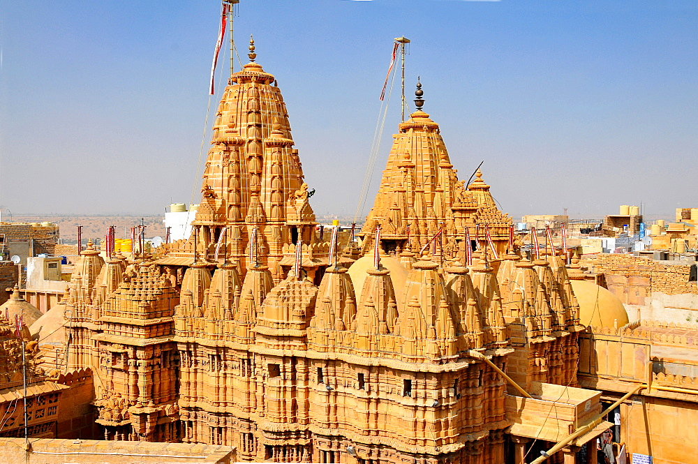 Jain temple of Adinath (Rishabha), dating from the 12th century, Jaisalmer, Rajasthan, India, Asia