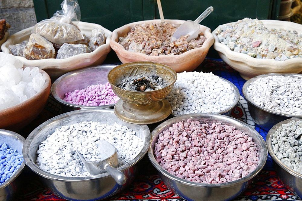 Frankincense on a market stall, Jerusalem, Israel, Middle East