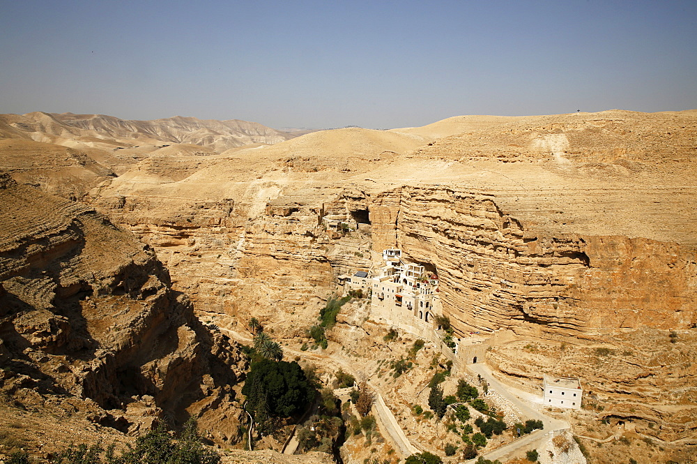 Greek Orthodox St. George of Koziba Monastery on the slope of Wadi Qelt, Judean Desert, Israel, Middle East