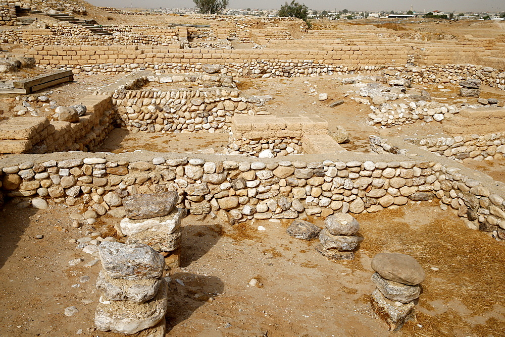 The biblical tells of Beer Sheba, Israel, Middle East