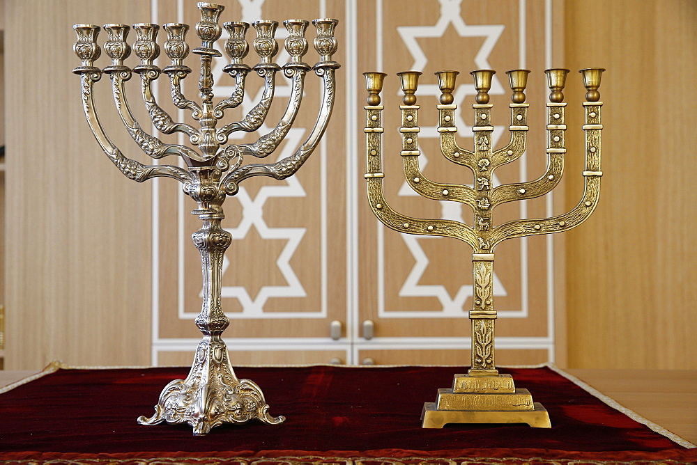 Hanukkah and Menorah, Paris, France, Europe