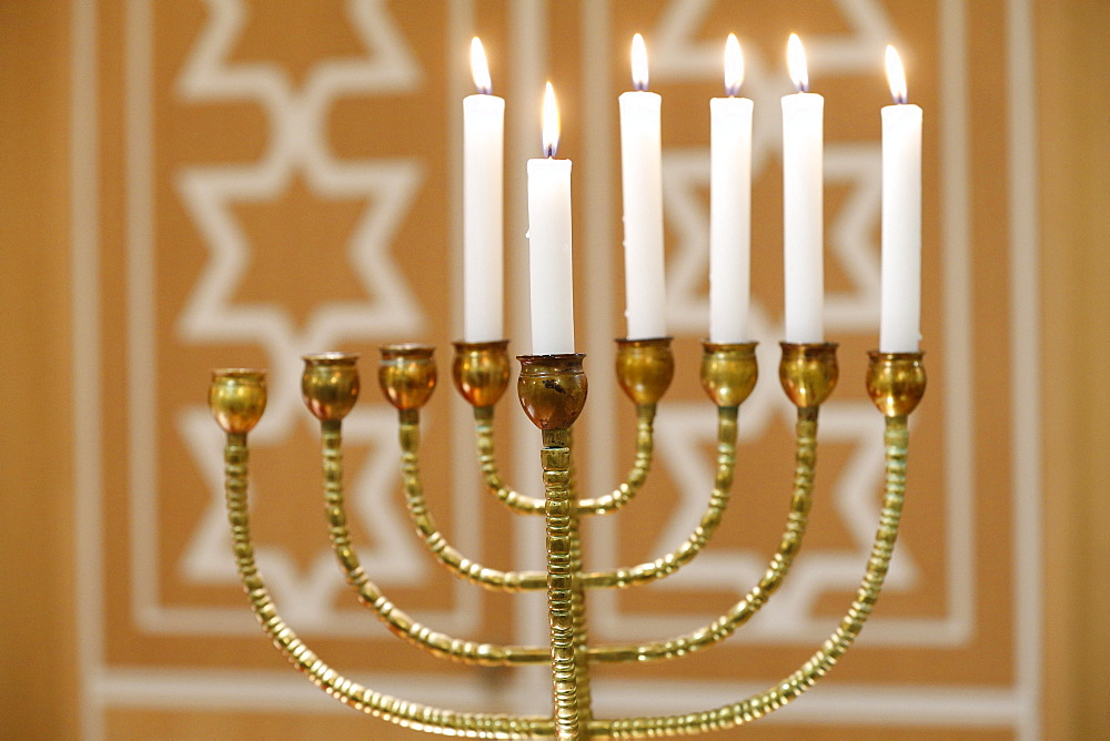 Hanukkah candles, Paris, France, Europe