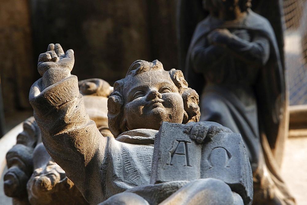 Jesus statue, Notre Dame de la Treille Cathedral, Lille, Nord, France, Europe