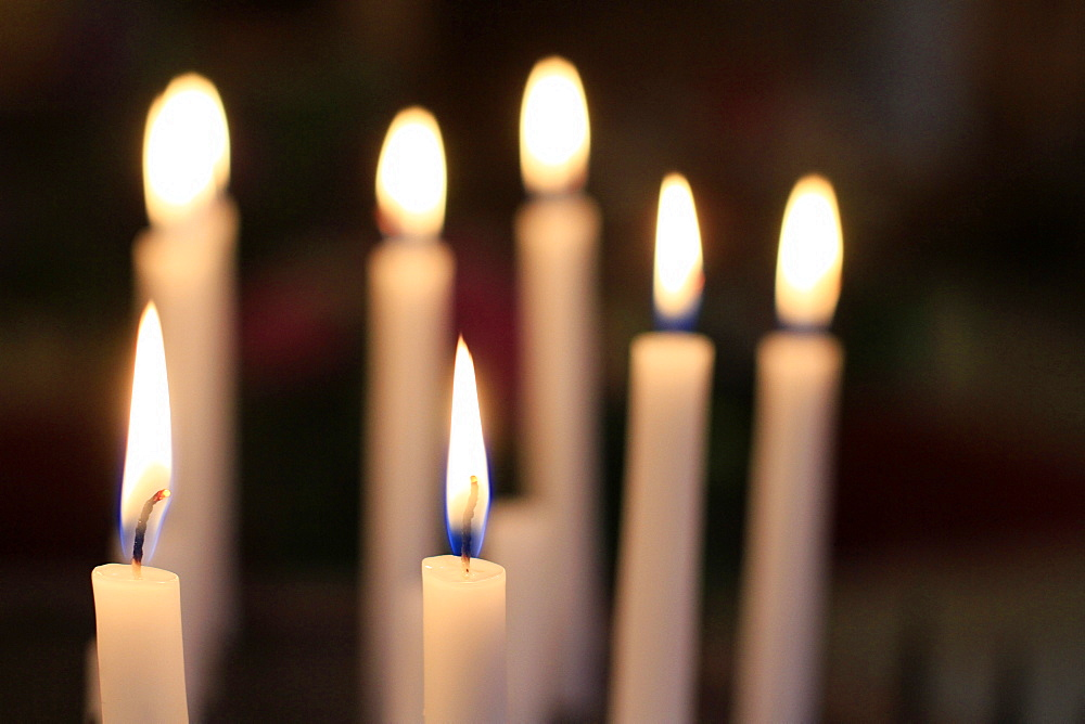 Church candles, France, Europe