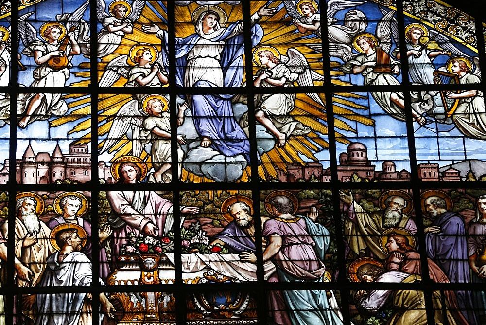The Assumption of the Virgin by Edouard-Amedee Didron, Church of Saint-Thomas d'Aquin, Paris, France, Europe