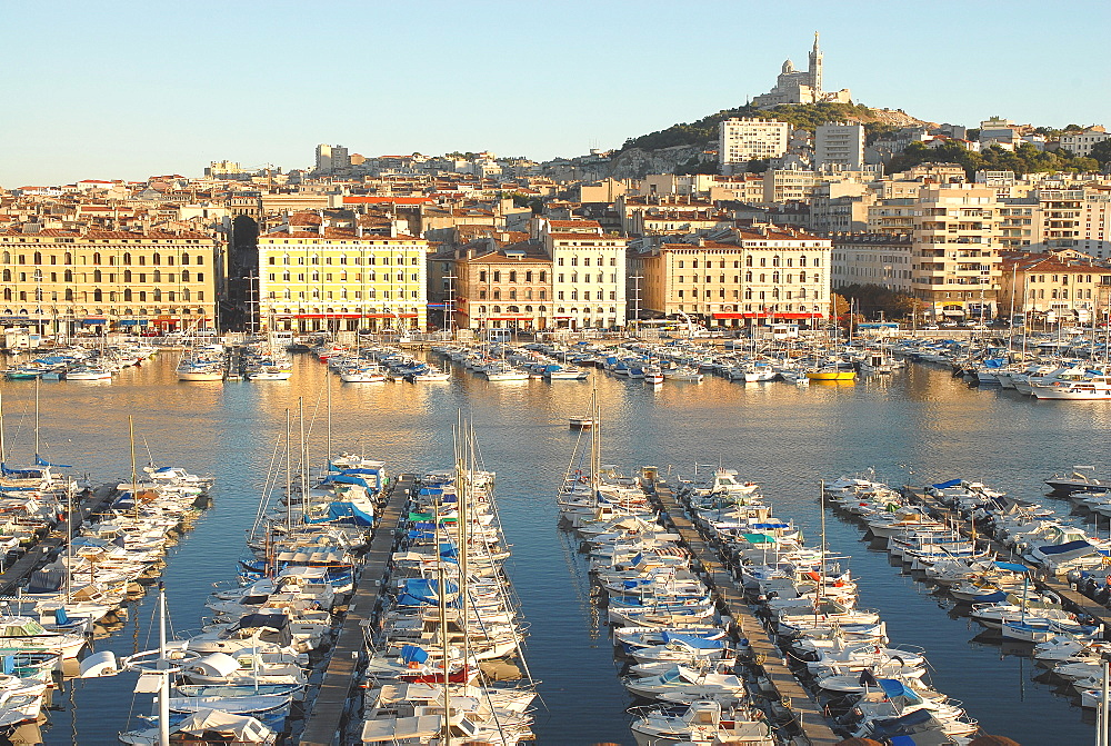 Old harbour of Marseille, Bouches du Rhone, Provence, France, Mediterranean, Europe