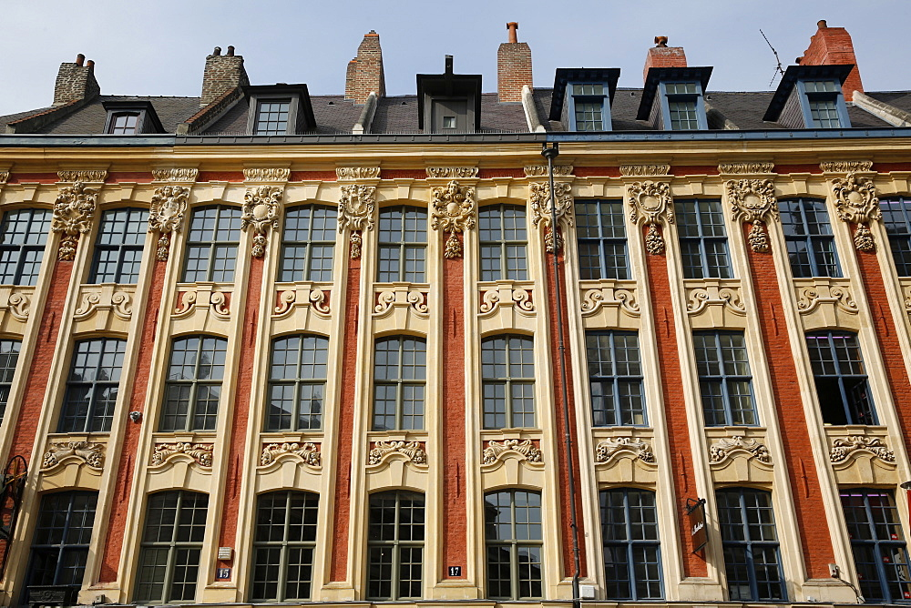 Building on the Grand Place, Lille, Nord, France, Europe