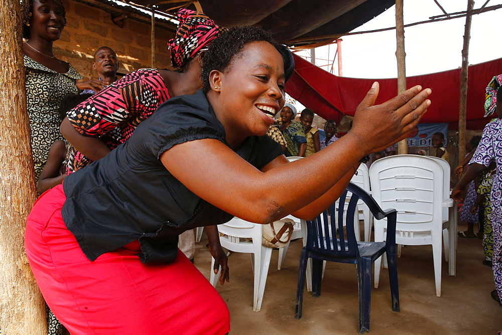 Pentecostal Sunday service, Missessinto, Benin, West Africa, Africa