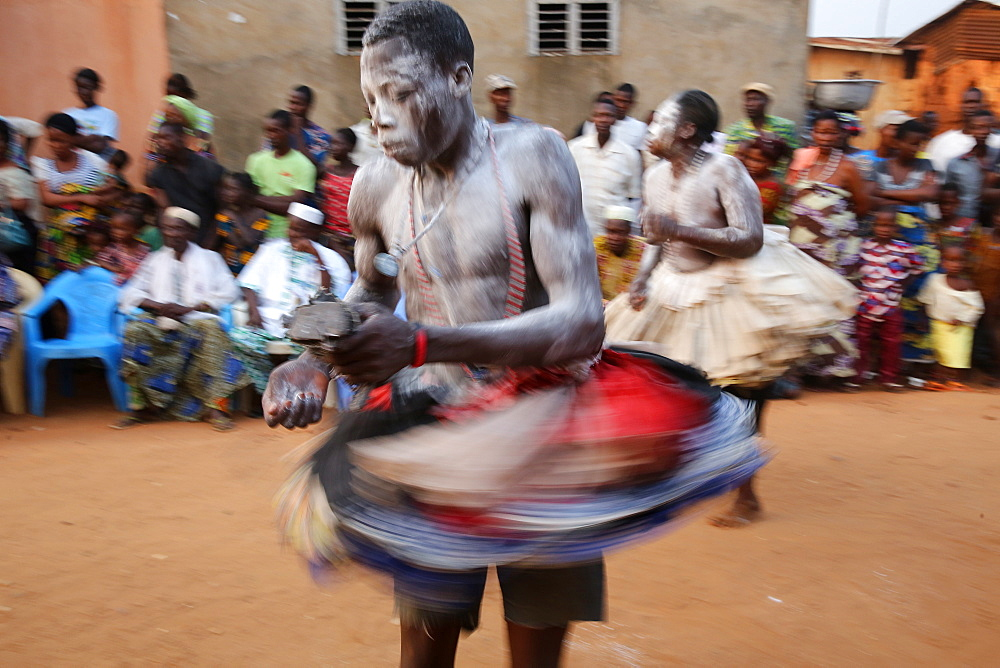 Gambada dancers in Ouidah, Benin, West Africa, Africa