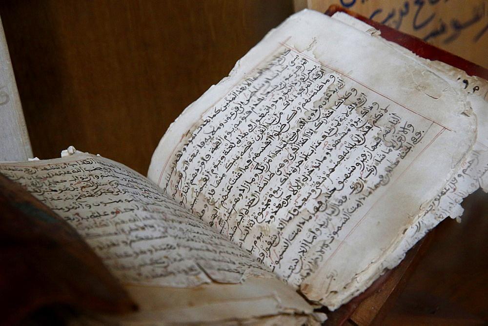 Old Quran, Paris Great Mosque, Paris, France, Europe