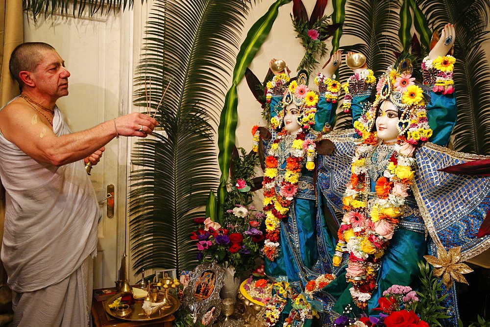 Gaura Purnima celebration, Sarcelles, Val d'Oise, France, Europe