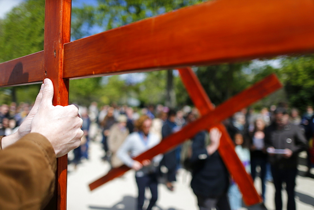 Way of the Cross, Holy Week, Paris, France, Europe - 809-6348