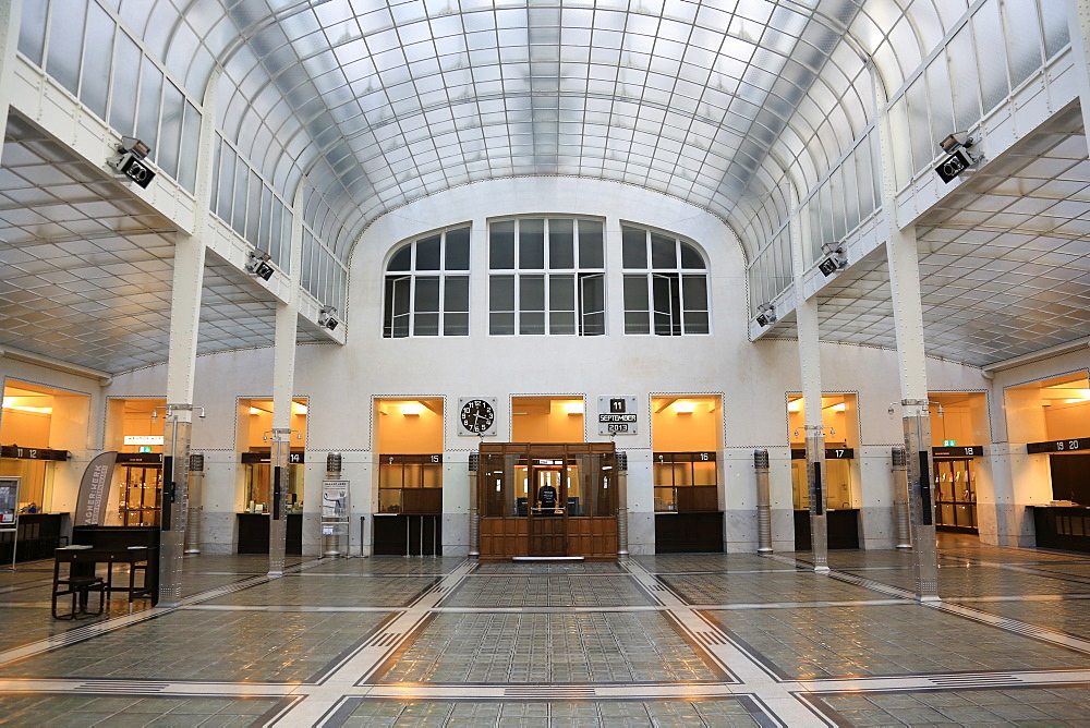 Hall. Postal Office Savings Bank Building by Otto Wagner, Vienna, Austria, Europe