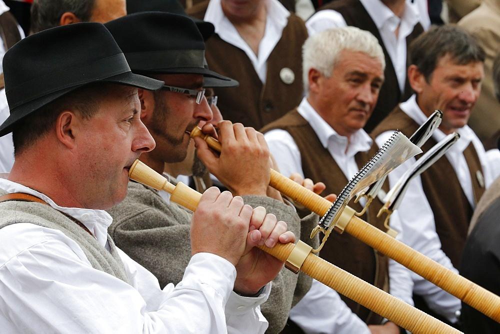 Haute Savoie folk street show, Saint-Gervais, Haute-Savoie, France, Europe