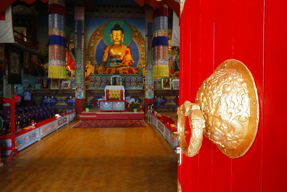 Shakyamuni Buddha, Temple of the Thousand Buddhas, Dashang Kagyu Ling congregation, La Boulaye, Saone-et-Loire, Burgundy, France, Europe