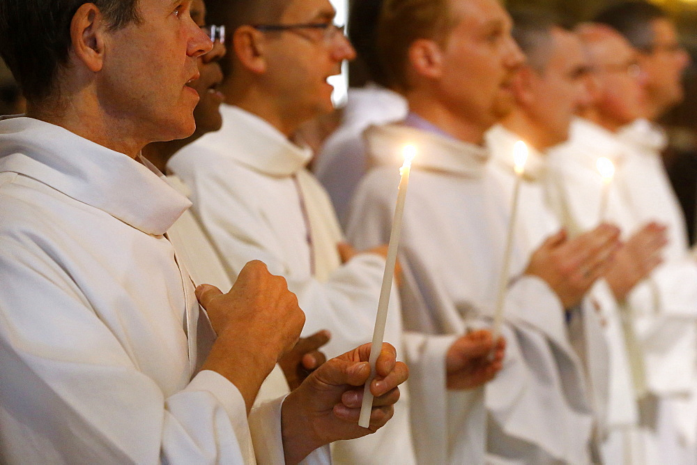 Deacon ordinations in Notre Dame cathedral, Paris, France, Europe