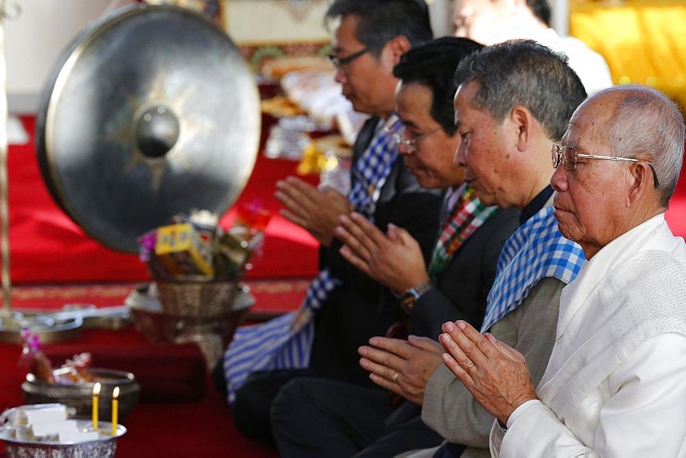 Buddhist ceremony, Wat Velouvanaram, Bussy St. George, Seine et Marne, France, Europe
