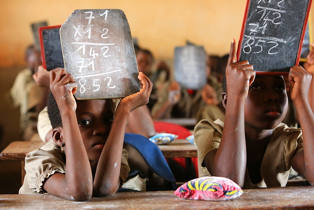 Mathematics, Primary School Adjalle, Togo, West Africa, Africa