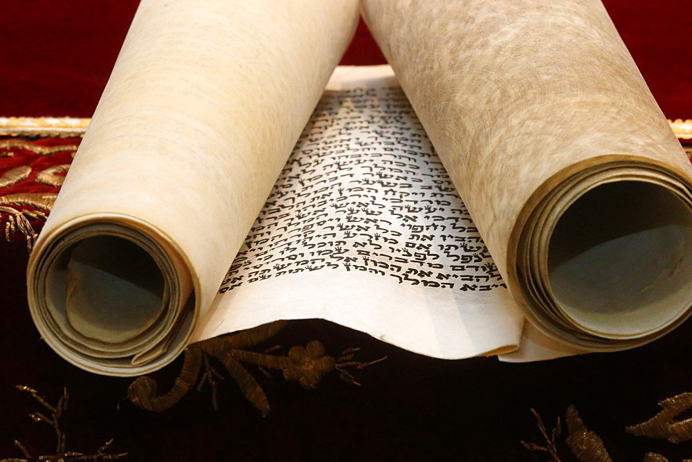 Scroll of Esther, known as the Megillah, Purim celebration, Paris, France, Europe