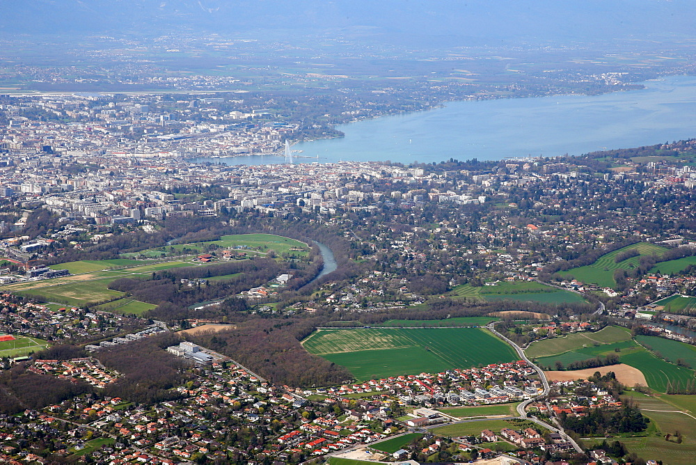 Lake Geneva, city and countryside, Geneva, Switzerland, Europe