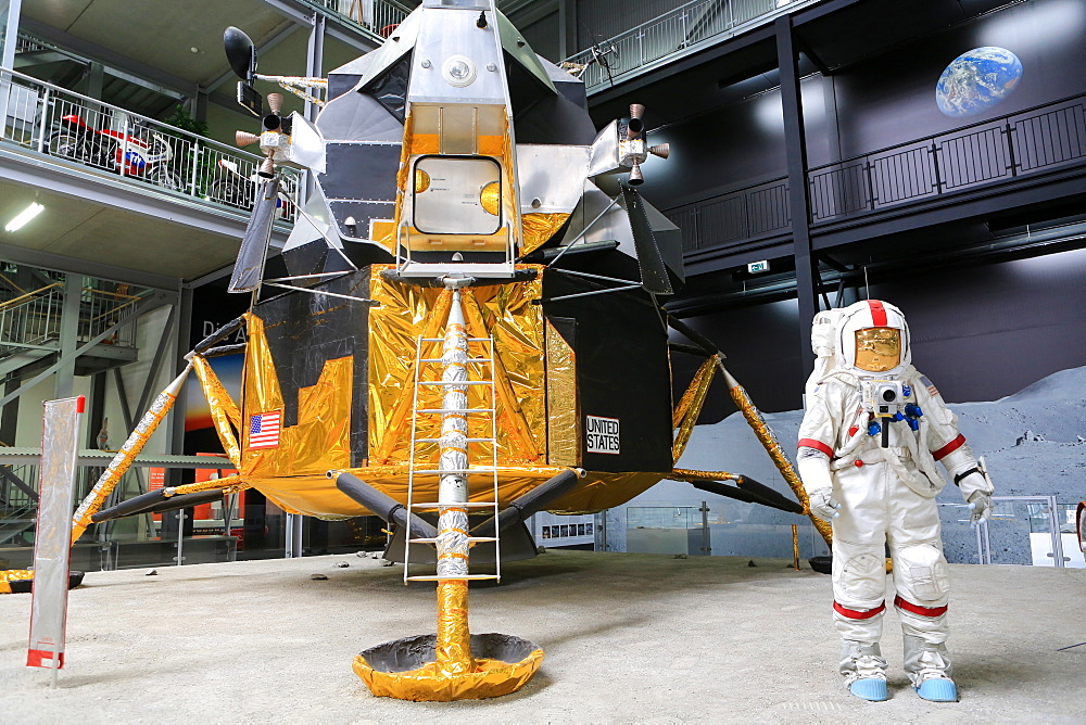 Apollo 17, Exhibition Apollo and Beyond. The Technik Museum Speyer, Rhineland Palatinate, Germany, Europe
