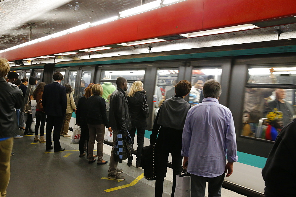 Paris Metro station, Paris, France, Europe