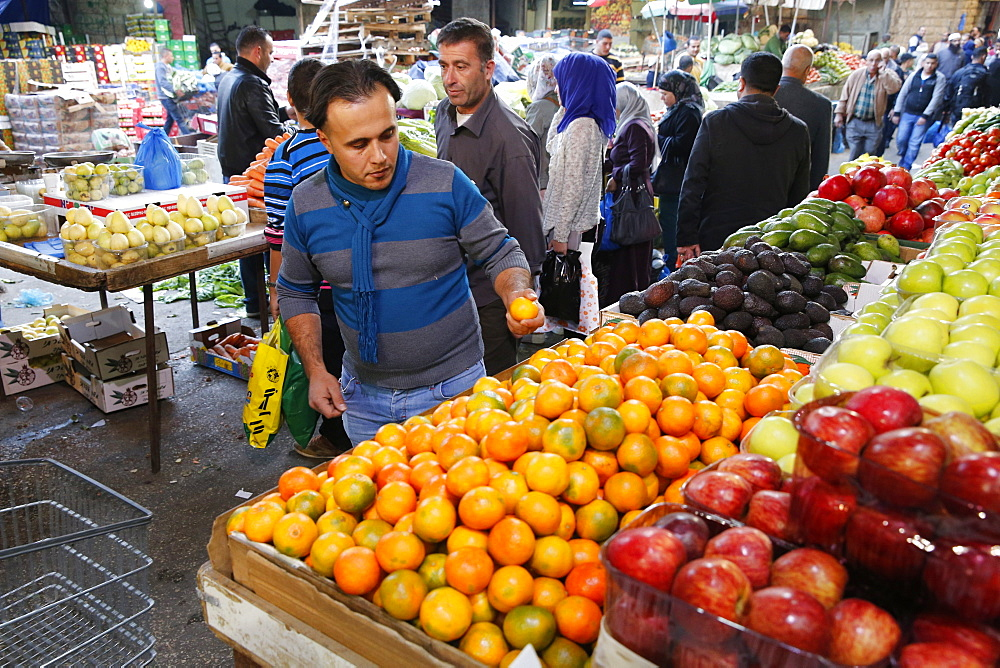 Ramallah central market, West Bank, Palestinian Territories, Middle East