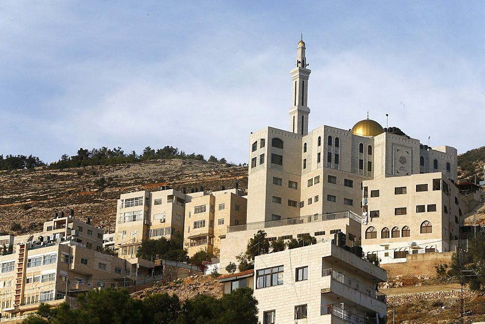 Buildings and mosque in Nablus city, West Bank, Palestinian Territories, Middle East