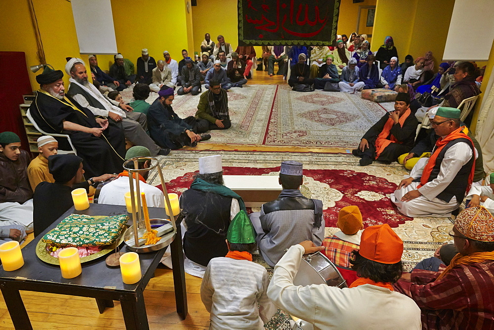 Sufi Muslims gathering in Paris, France, Europe