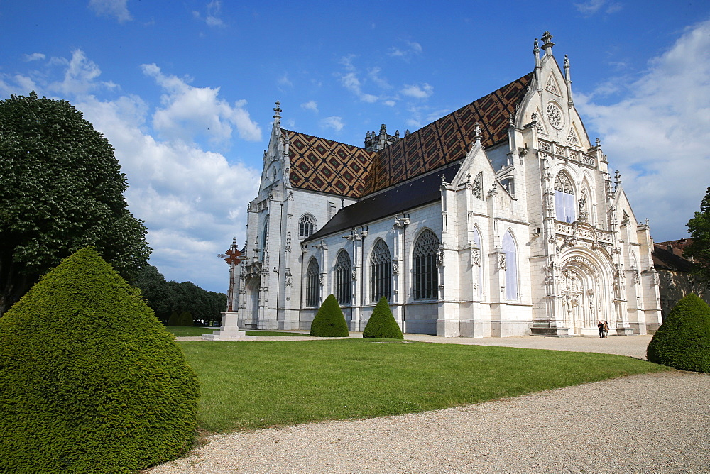 The Royal Monastery of Brou, the church is a masterpiece of the Flamboyant Gothic style, Bourge-en-Bresse, Ain, France, Europe