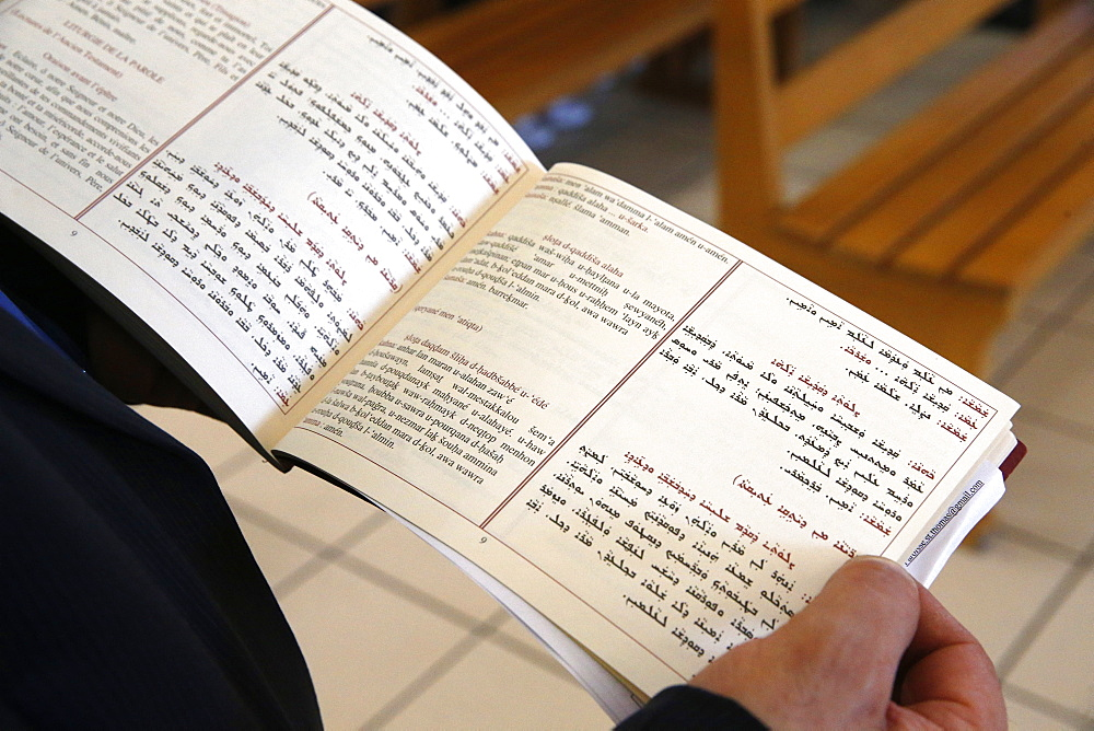 Mass in Saint Thomas's Chaldean Church, Sarcelles, Val d'Oise, France, Europe