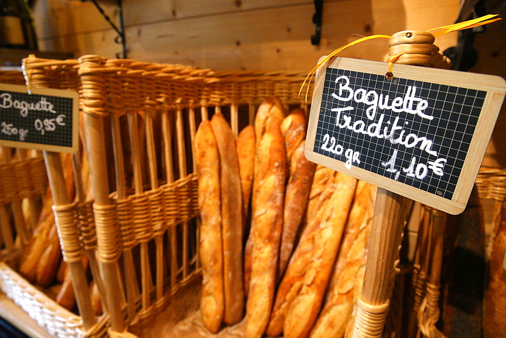 Bakery, French baguettes, Haute-Savoie, France, Europe