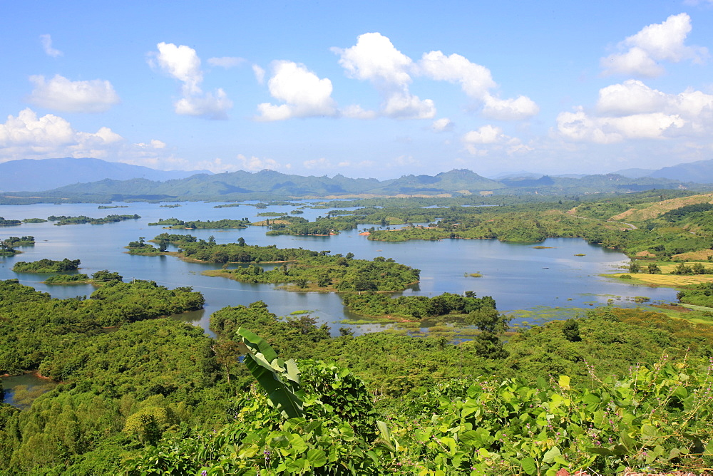 Landscape, Nam Ngum Lake and islands, Vientiane Province, Laos, Indochina, Southeast Asia, Asia