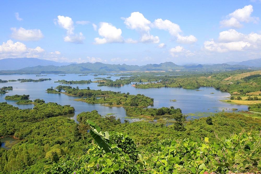Landscape. Nam Ngum Lake and islands. Vientiane Province. Laos.