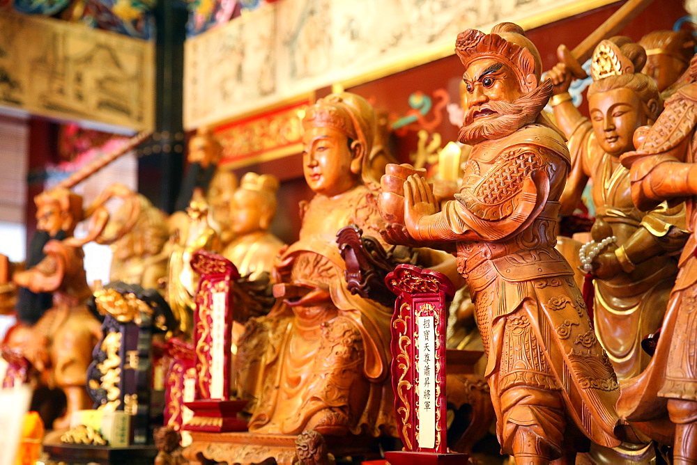 Taoist Pantheon, Yu Huang Gong Temple of Heavenly Jade Emperor, Singapore, Southeast Asia, Asia