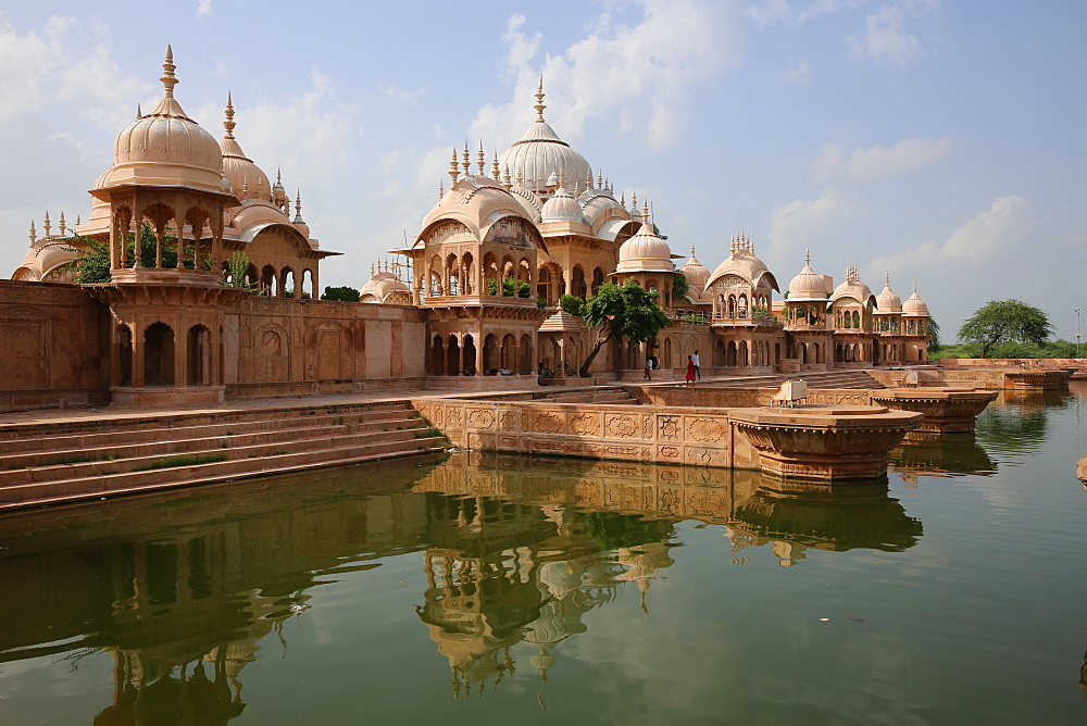 Kusum Sarovar, a historical sandstone monument between Govardhan and Radha Kund in Mathura district of Uttar Pradesh, India, Asia