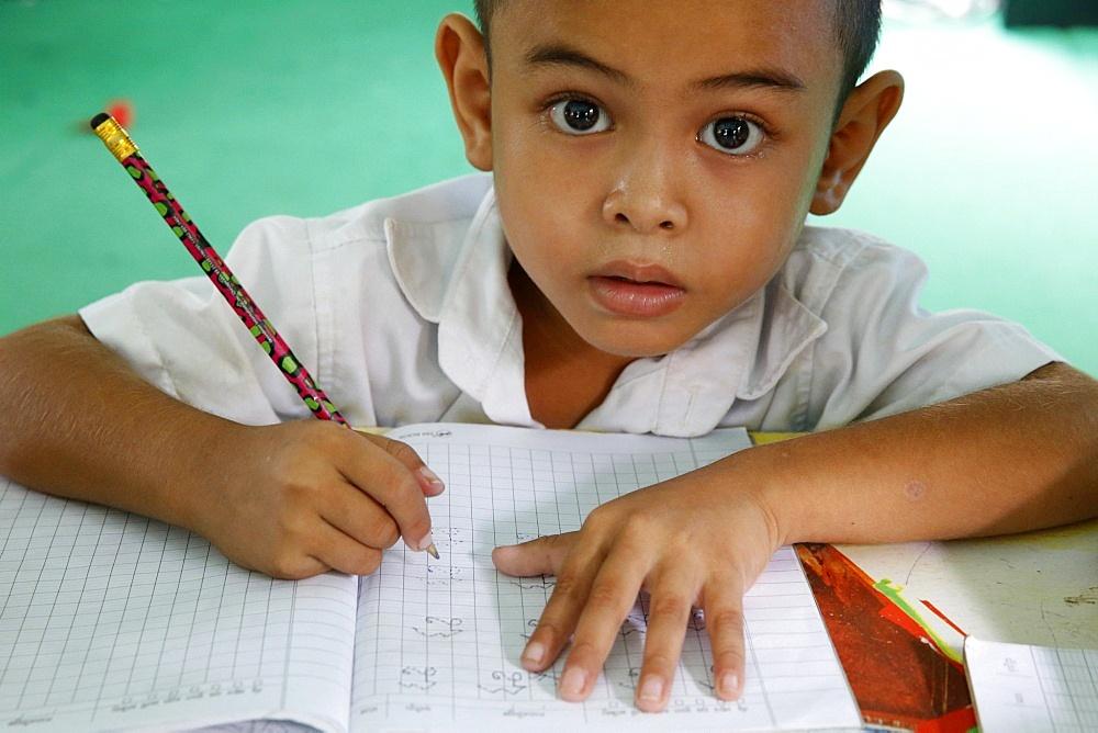 Phare Ponleu Selpak school pupil, Cambodia, Indochina, Southeast Asia, Asia