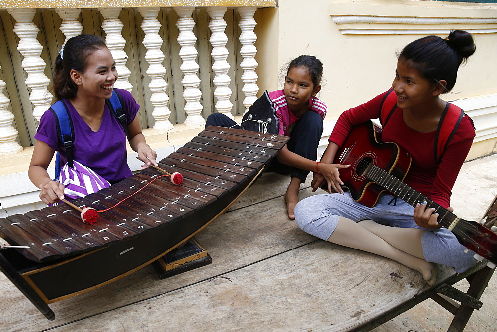 Phare Ponleu Selpak music school, Battambang, Cambodia, Indochina, Southeast Asia, Asia