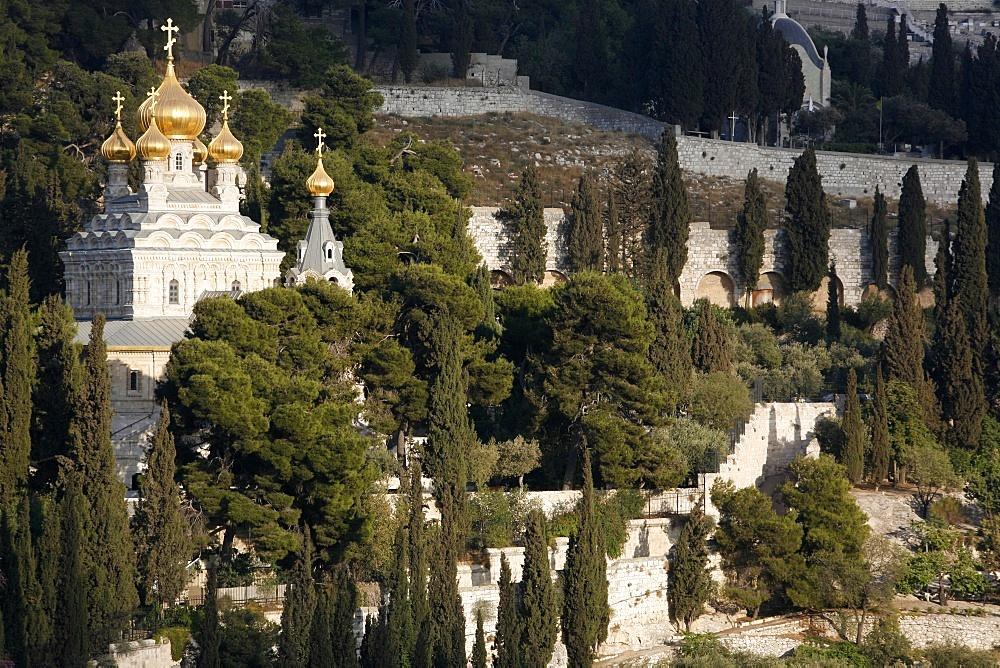 Mount of Olives Orthodox church, Jerusalem, Israel, Middle East