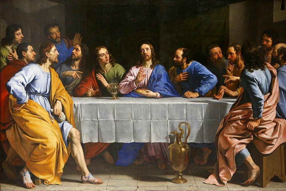 The Last Supper by Philippe de Champaigne, painted around 1652, Louvre Museum, Paris, France, Europe