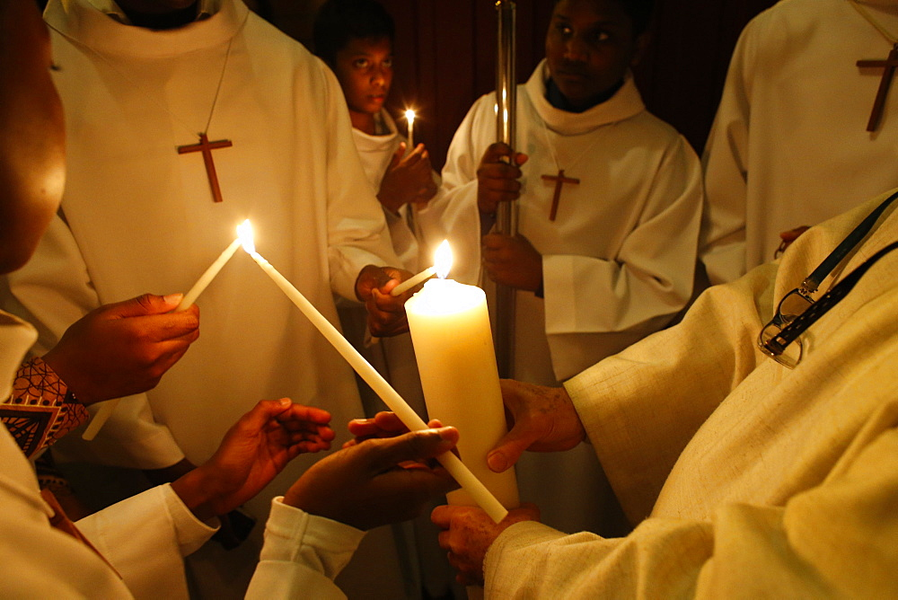 Easter vigil at Le Blanc Mesnil, France, Europe