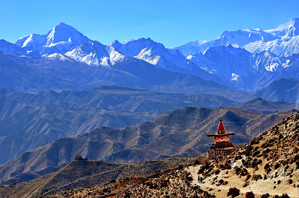 Annapurna landscape, Mustang, Nepal, Himalayas, Asia