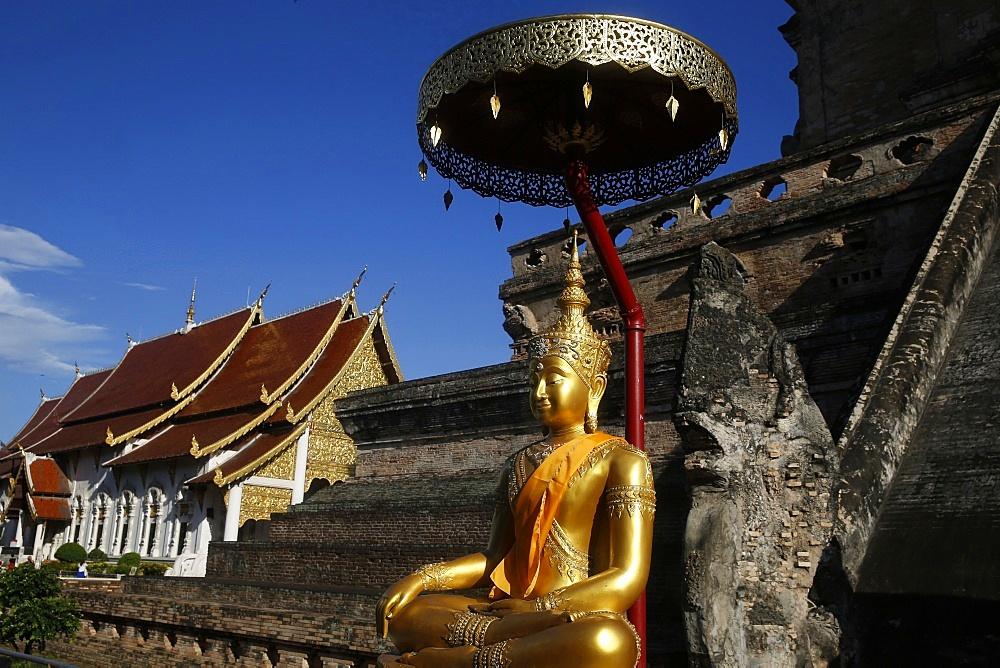 Wat Chedi Luang, Chiang Mai, Thailand, Southeast Asia, Asia