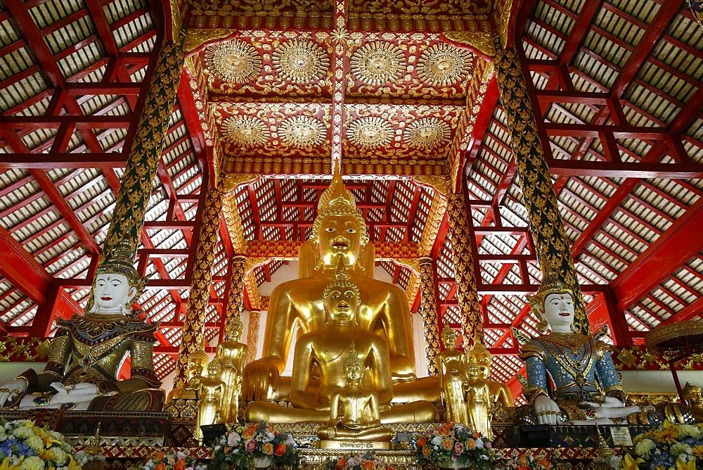 Buddha statues in Wat Suandok, Chiang Mai, Thailand, Southeast Asia, Asia