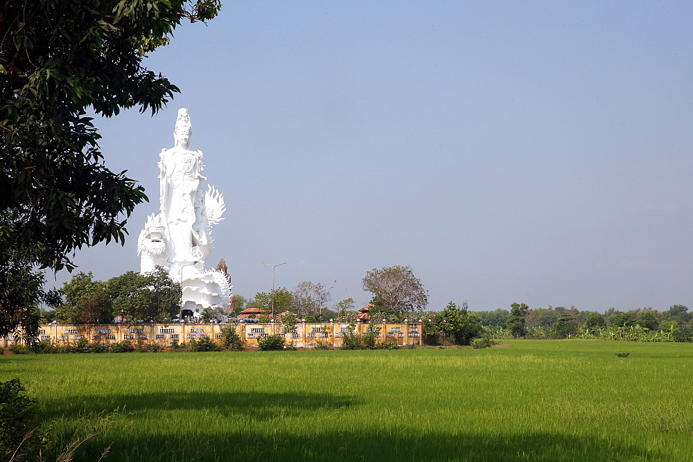 Chua Thien Lam Go buddhist pagoda. Quan Am bodhisattva of compassion or goddess of Mercy. Statue. Thay Ninh. Vietnam.