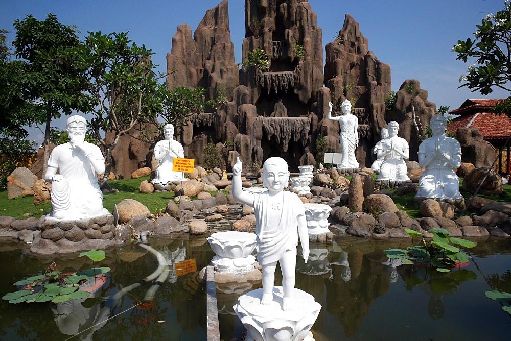 Statue of Prince Siddhartha Gautama, the Buddha, as a child, Chua Thien Lam Go Pagoda, Tay Ninh, Vietnam, Indochina, Southeast Asia, Asia