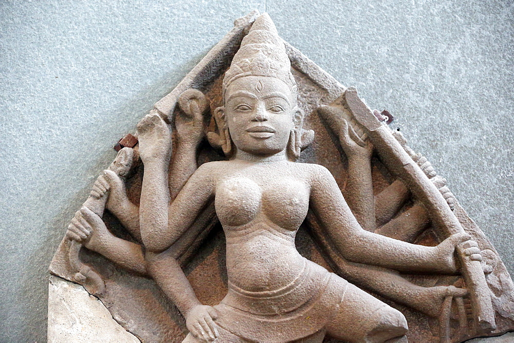 Durga statue from the 10th century, Museum of Cham Sculpture, Danang, Vietnam, Indochina, Southeast Asia, Asia