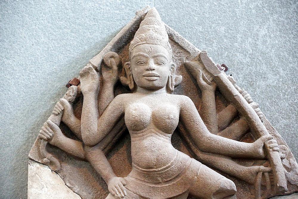Museum of Cham Sculpture. Durga. 10th century. Danang. Vietnam.